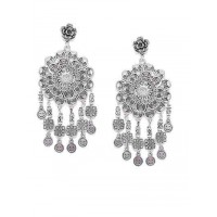 Flower Tribal Jewellery Danglers With Hanging Smiles
