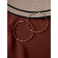 Golden Zig Zag Hoop Earrings