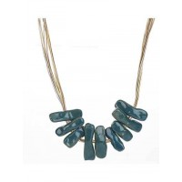 Teal Bar Statement Necklace