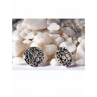 Black and Silver Shield Studs