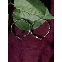 Silver Zig Zag Hoop Earrings For Women