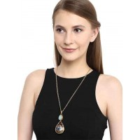 Aqua Drop Pendant Chain Fashion Necklace