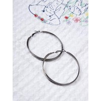 Layered Silver Hoop Earrings For Women