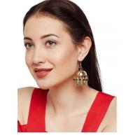 Aisha Metal Silver Leaf Handmade Western Earrings