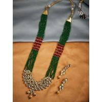 Gold-Plated Green Kundan Jewellery Set