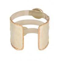 Ruby Studded Semi Precious Handmade Jewellery Cuff Bracelet