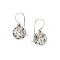 Combo of Two Short Vintage Silver Earrings