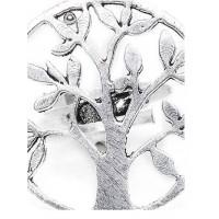 Adjustable Oxidized Silver Vintage Tree Ring