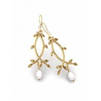 Golden Pearl Drop Earrings