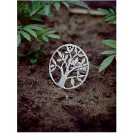 Adjustable Oxidized Silver Vintage Tree Ring