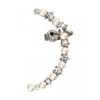 Pearl and Diamond Earcuffs Western Earrings