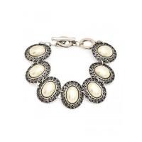 Statement Sterling Silver Bracelet Studded With Gemstones