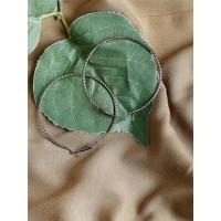 Silver Hoop Round Earrings For Women