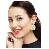 Designer Golden Stud Earrings For Women