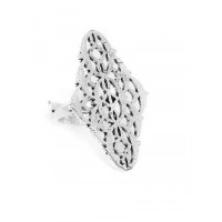Adjustable Oxidized Silver Classic Patterned Ring