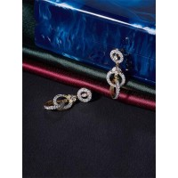 American Diamond Loops Dangle Earrings