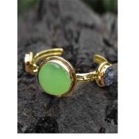 Dainty Lime and Black Druzy Semi Precious Handmade Jewellery Cuff Bracelet
