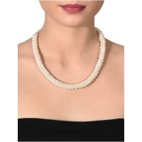 Pearl Branch Thick Silver Jewellery Necklace