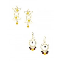 Combo Of 2 Quirky Western Earrings For Women