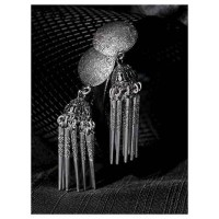 Round Tribal Jewellery Long Jhumkis With Pretty Designer Hangings