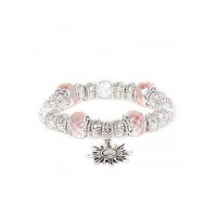 Pink and Silver Sun Charm Bracelet