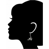 Flying Eagle Drop Earrings