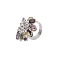 Overlapping Petals Silver Jewellery Ring