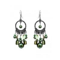Emerald Green Chandelier Earrings