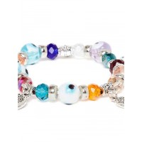 Multicolored Tree Charm Bracelet
