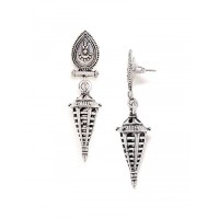 Oxidized Silver Vintage Earrings