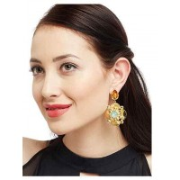 Wicked Woman Topaz and Lake Blue Opal Designer Artsy Party Wear Earrings