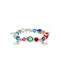 Multicolored Anchor Charm Bracelet