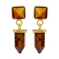 Tiger Eye Handmade Jewellery Earrings