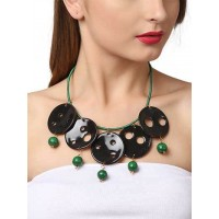 Black Statement Suave Party Wear Statement Necklace