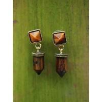 Tiger Eye Handmade Jewellery Earrings