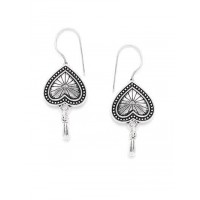 Combo of Silver Broom and Silver Heart Earrings