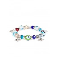 Multicolored Butterfly Charm Bracelet