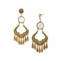 Golden Mirror Dangler Earrings