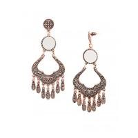 Rose Gold Mirror Chandelier Earrings