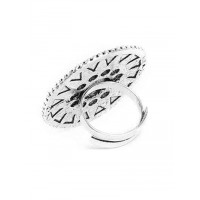 Adjustable Oxidized Silver Classic Motifs Ring