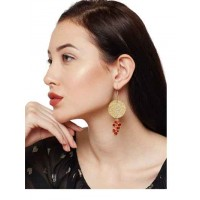 Tangy Red and Gold Drops Nirvana Handmade Western Earrings