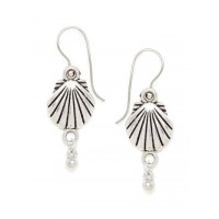 Classic Oxidized Silver Shell Earrings