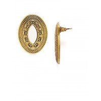 Golden Mirror Stud Earrings