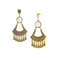 Golden Chandelier Mirror Earrings