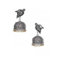 Birdie Silver Traditional Tribal Jewellery Jhumka Earrings