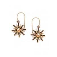 Combo of Golden Flower and Golden Sun Earrings