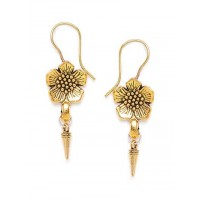 Combo of Two Short Golden Earrings