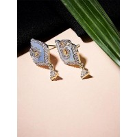 American Diamond Grey Short Earrings