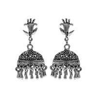 Ethnic Tribal Cut Tribal Jewellery Silver Jhumka Earrings