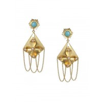 Combo of Contemporary Golden Jhumkas and Danglers